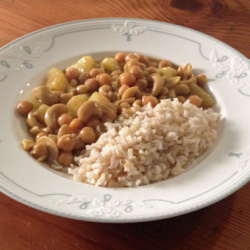 Kichererbsen-Cashew-Curry (vegan)