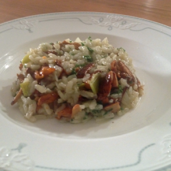 Risotto mit Pfifferlingen (vegan)