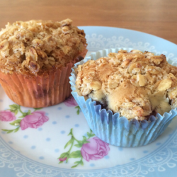 Blueberry Muffins mit Knuspertopping