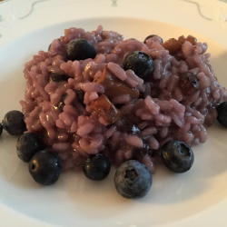 Heidelbeer-Risotto mit Pfifferlingen